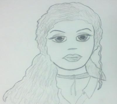 Zoe face sketch