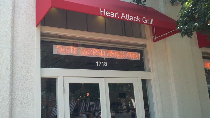 heart attack grill dallas. makeup The Heart Attack Grill: A heart attack grill dallas.